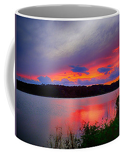 Coffee Mug featuring the photograph Shelf Cloud At Sunset by Bill Barber