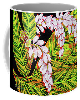 Shell Ginger Flowers Coffee Mug by Debbie Chamberlin