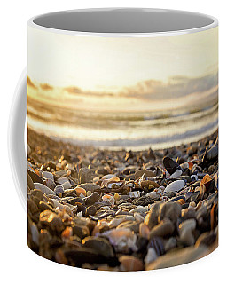 Coffee Mug featuring the photograph Shells At Sunset by April Reppucci