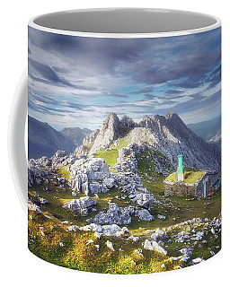 Shelter In The Top Of Urkiola Mountains Coffee Mug