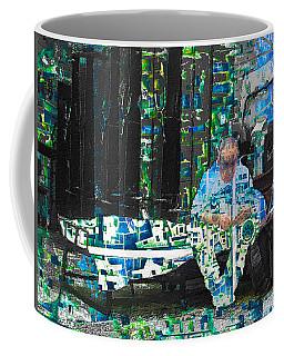 Coffee Mug featuring the mixed media Shelter by Tony Rubino