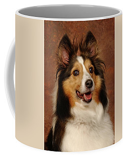 Coffee Mug featuring the photograph Sheltie by Greg Mimbs
