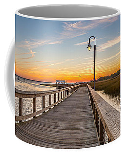 Shem Creek Pier Panoramic Coffee Mug