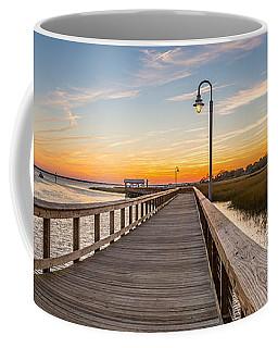 Shem Creek Pier Panoramic Coffee Mug