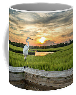 Shem Creek Pier Sunset Coffee Mug