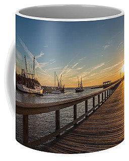 Shem Creek Pier Sunset - Mt. Pleasant Sc Coffee Mug