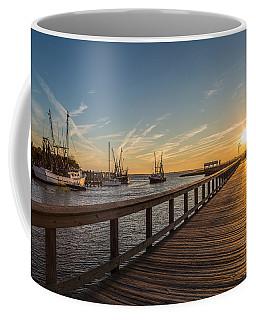 Shem Creek Pier Sunset - Mt. Pleasant Sc Coffee Mug