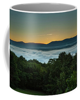 Coffee Mug featuring the photograph Shenandoah Sunrise Pre-dawn Glow by Lara Ellis