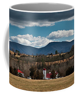 Coffee Mug featuring the photograph Shenandoah Valley Farm Winter Skies by Lara Ellis