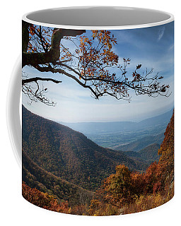 Coffee Mug featuring the photograph Shenandoah Valley From The Mountain Top by Lara Ellis