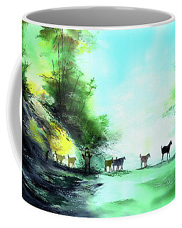 Coffee Mug featuring the painting Shepherd by Anil Nene