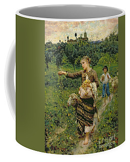 Shepherdess Carrying A Bunch Of Grapes Coffee Mug