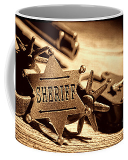 Sheriff Tools Coffee Mug by American West Legend By Olivier Le Queinec