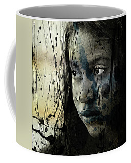 Coffee Mug featuring the mixed media She's Out Of My Life  by Paul Lovering
