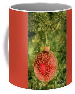 Shimmering Red Christmas Ornament Coffee Mug by John Roberts