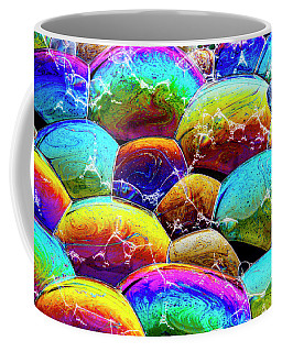 Coffee Mug featuring the photograph Shiney Bubbles by Jean Noren