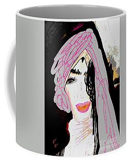 Coffee Mug featuring the mixed media Shining Star by Ann Calvo