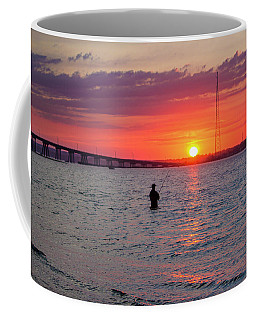 Shinnecock Fisherman At Sunset Coffee Mug