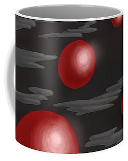 Shiny Red Planets Coffee Mug