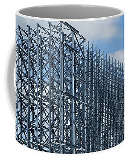 Shiny Steel Construction In Nature Coffee Mug