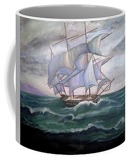 Ship Out To Sea Coffee Mug by Manuel Sanchez