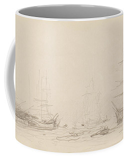 Shipping In Falmouth Harbour Coffee Mug