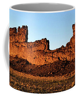 Shiprock Lava Wall 003 Panorama Coffee Mug by George Bostian