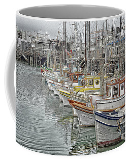 Ships In The Harbor Coffee Mug