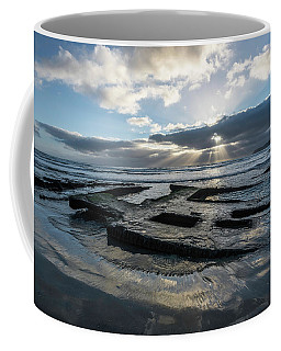 Shipwreck And Sun Rays Coffee Mug