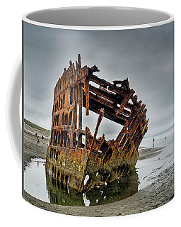 Shipwreck On Oregon Coast Coffee Mug