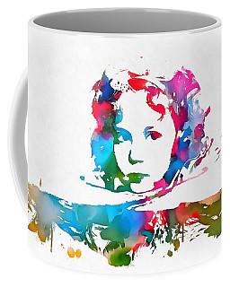 Shirley Temple Watercolor Paint Splatter Coffee Mug