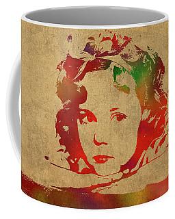 Shirley Temple Watercolor Portrait Coffee Mug
