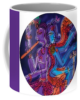 Shiva And Krishna Coffee Mug