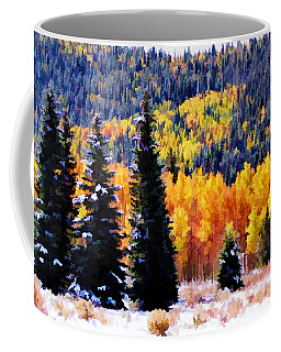 Shivering Pines In Autumn Coffee Mug