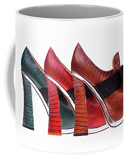 Coffee Mug featuring the pyrography Shoes #4766 by Andrey Godyaykin