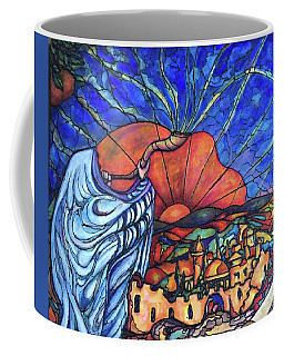 Coffee Mug featuring the painting Shofar by Rae Chichilnitsky