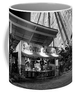 Shootin Gallery At The Wheel In Black And White Coffee Mug