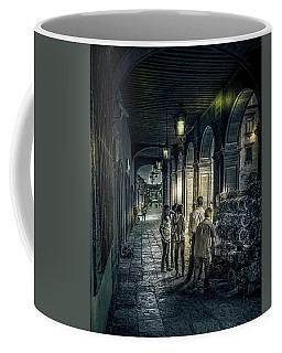 Shopping At Dusk Coffee Mug