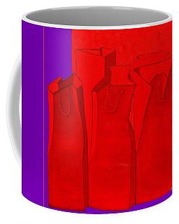 Shopping In Red Coffee Mug