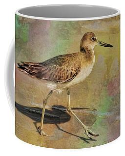Coffee Mug featuring the painting Shore Bird Beauty by Deborah Benoit