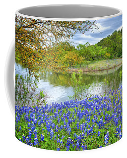 Shoreline Bluebonnets At Lake Travis Coffee Mug