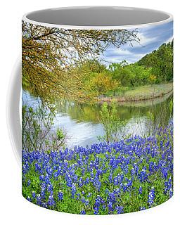 Shoreline Bluebonnets At Lake Travis Coffee Mug