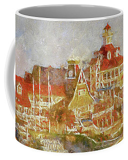Shoreline Village Coffee Mug by Joseph Hollingsworth