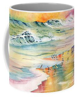 Shoreline Watercolor Coffee Mug by Melly Terpening