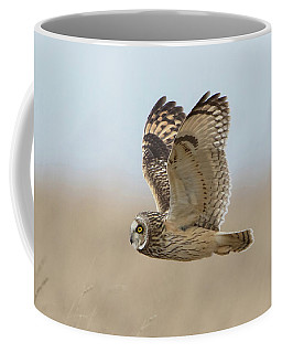 Short-eared Owl Hunting Coffee Mug