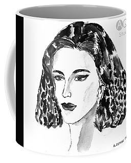 Short Hair Fashion Lady Coffee Mug