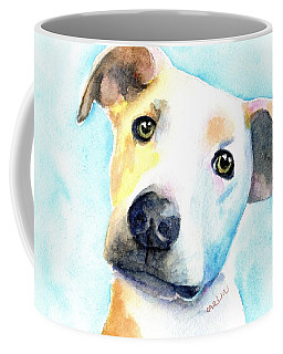 Short Hair White And Brown Dog Coffee Mug