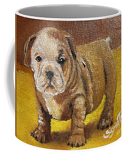 Chloe The   Flying Lamb Productions      Shortstop The English Bulldog Pup Coffee Mug