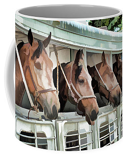 Coffee Mug featuring the photograph Show Horses On The Move  by Wilma Birdwell