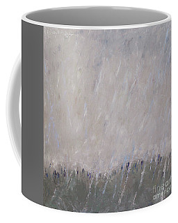 Shower In The Field Coffee Mug by Becky Kim